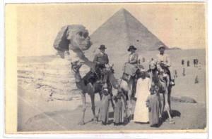 Le sphinx et les pyramides en 1920